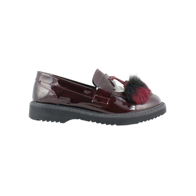 Moccasin in shiny leather Bordeaux CLARYS