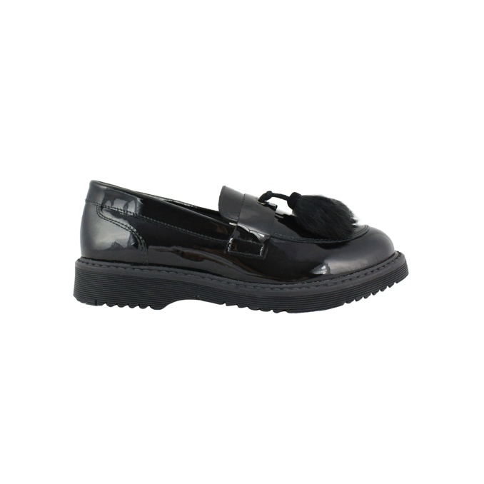 Moccasin in shiny leather Black CLARYS