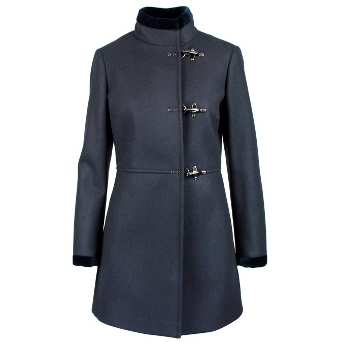 Cappotto Virginia in misto lana Blu Fay