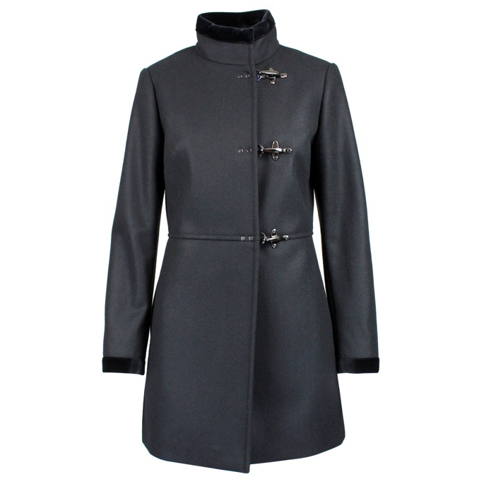 Cappotto Virginia in misto lana Nero Fay