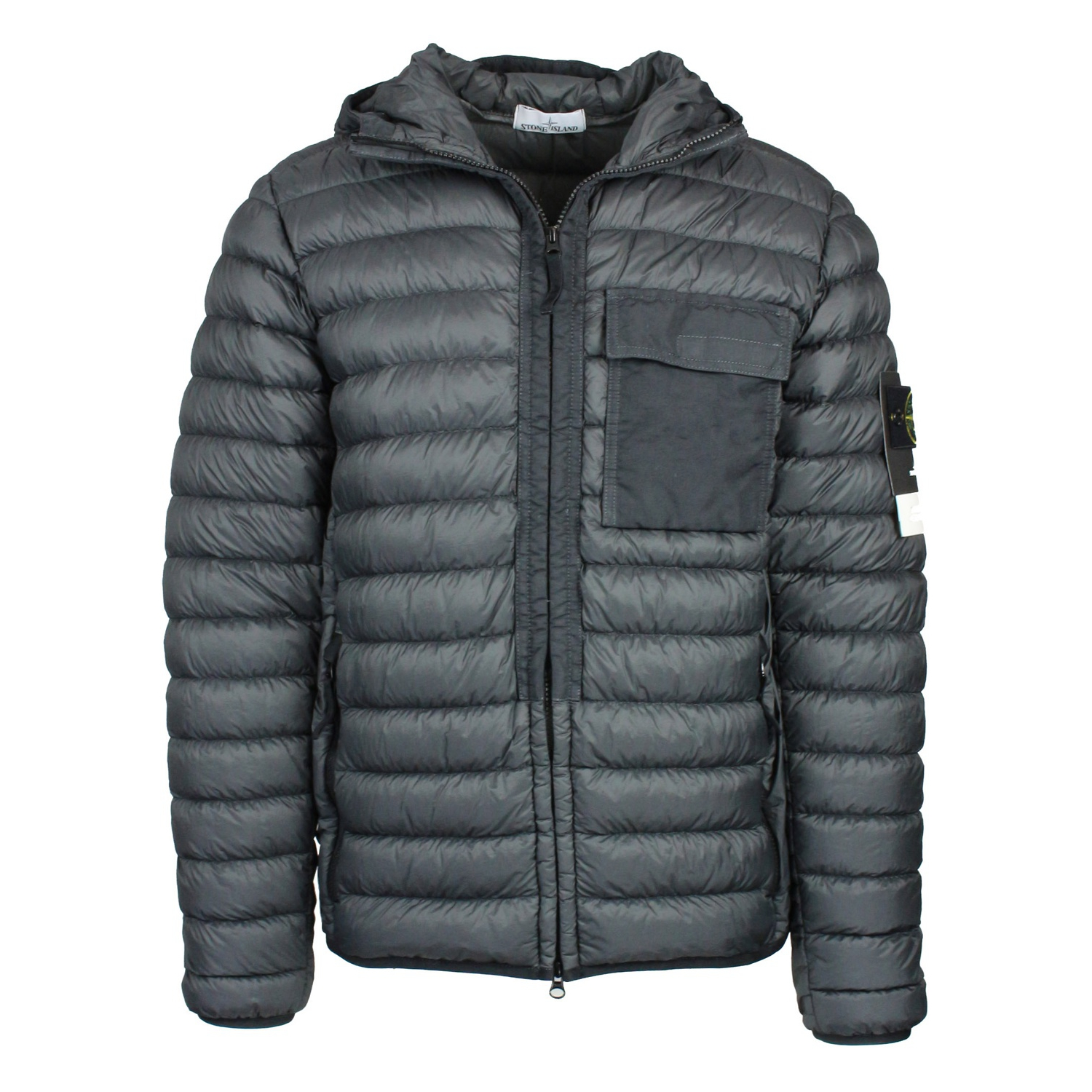 5f40625038ff DOWN JACKET GARMENT DYED Anthracite Stone Island ...