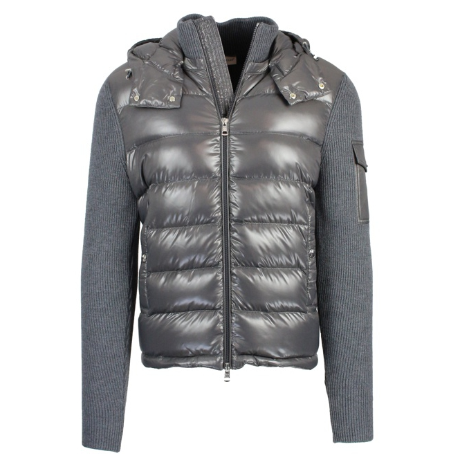 CARDIGAN TRICOT IN LANA Antracite Moncler