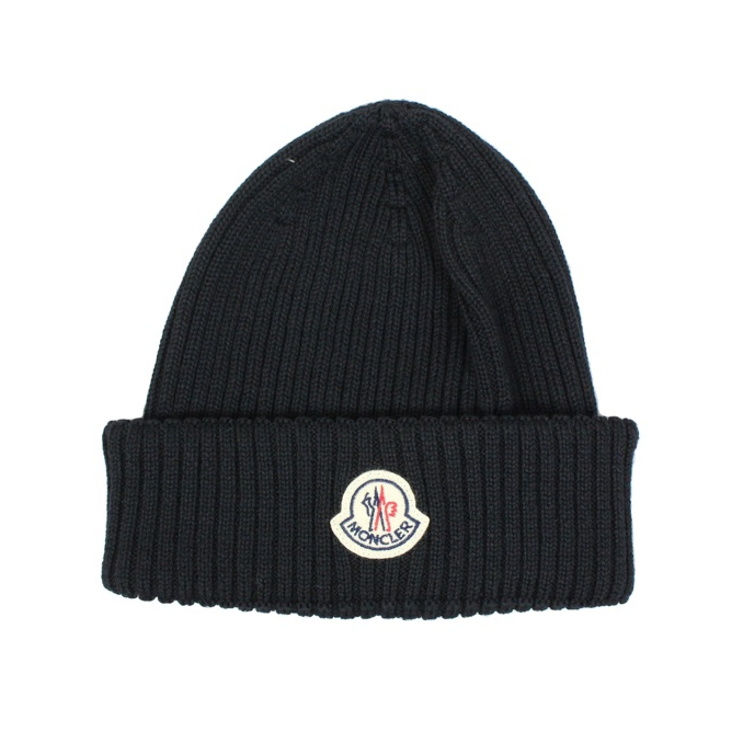 5fbde52c8ab WOOL HAT WITH LOGO Black Moncler