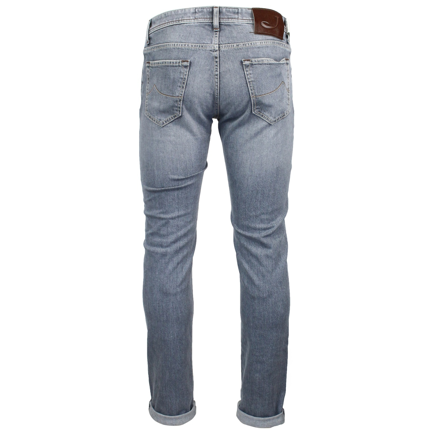616210ab6d6959 Slim-fit jeans with a used effect Light grey, Jacob Cohen pw622 slim ...
