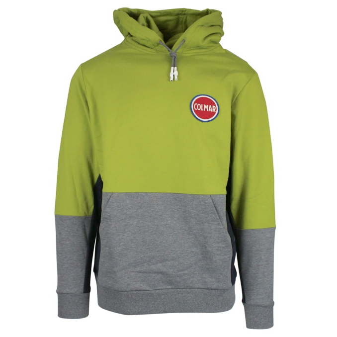 Two-colored sweatshirt with hood Lime Colmar