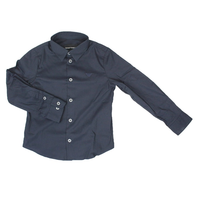 Shirt with French collar Blue EMPORIO ARMANI