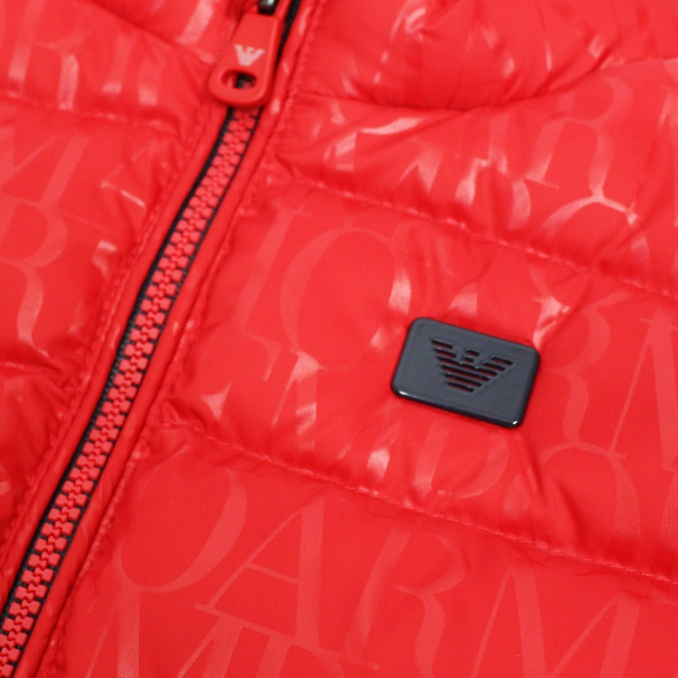 UPHOLSTERED VEST Red EMPORIO ARMANI