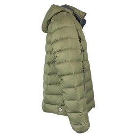 Short down jacket with hood Military Colmar