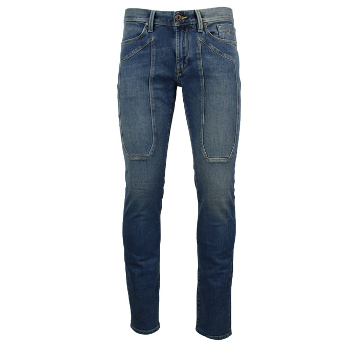 Slim-fit jeans with maxi patches Medium denim Jeckerson