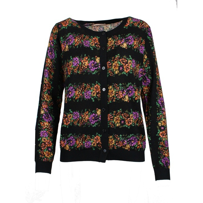 CARDIGAN STAMPA FIORE Fantasia Twin-Set