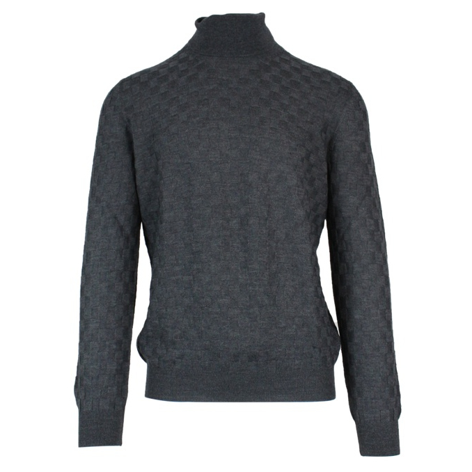 Turtleneck in virgin wool Anthracite TAGLIATORE