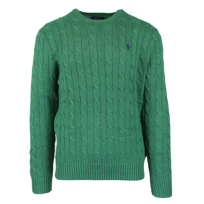 COTTON CABLE KNIT PULLOVER Green Polo Ralph Lauren