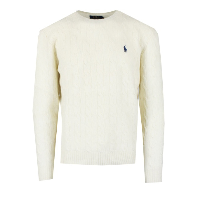 CABLE KNIT PULLOVER Cream Polo Ralph Lauren