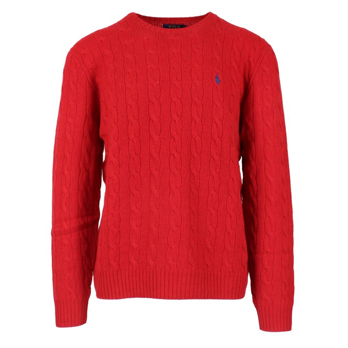 CABLE KNIT PULLOVER Red Polo Ralph Lauren