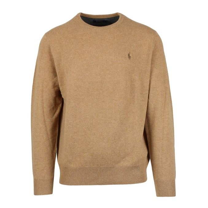 Pullover in lana Camel Polo Ralph Lauren