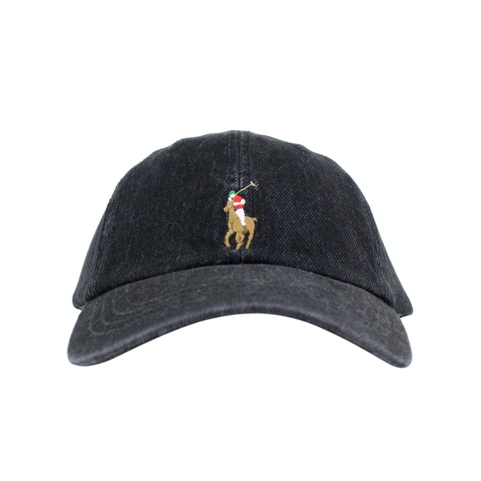 Denim baseball hat Black Polo Ralph Lauren