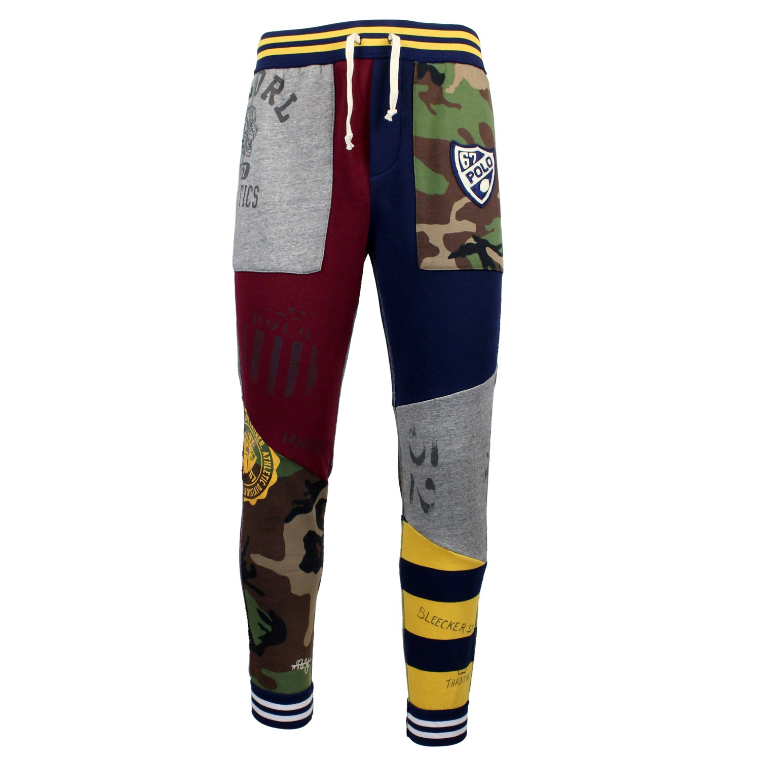 jogging trousers with patchwork blue polo ralph lauren