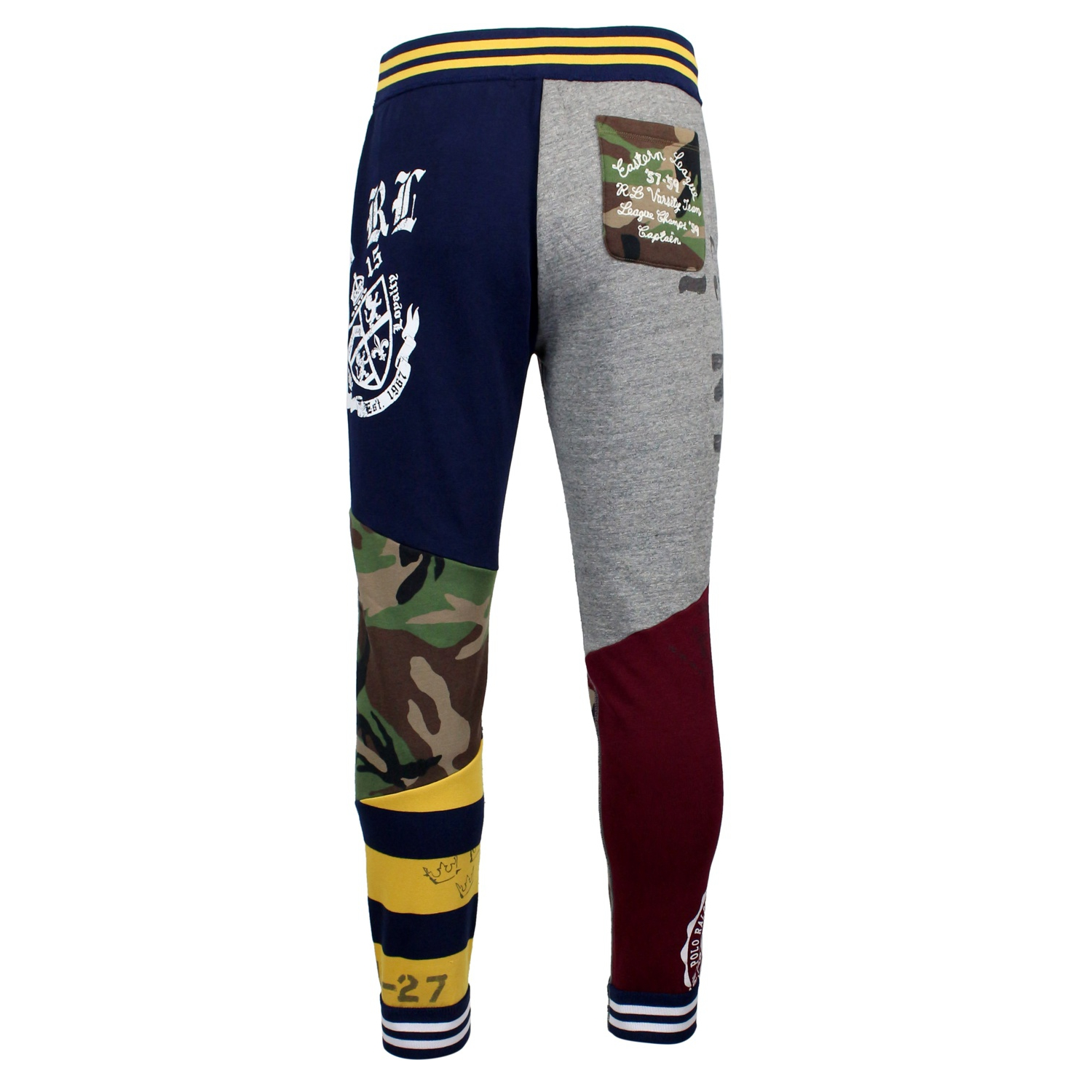 b80ab1b354a95c ... Jogging trousers with patchwork Blue Polo Ralph Lauren