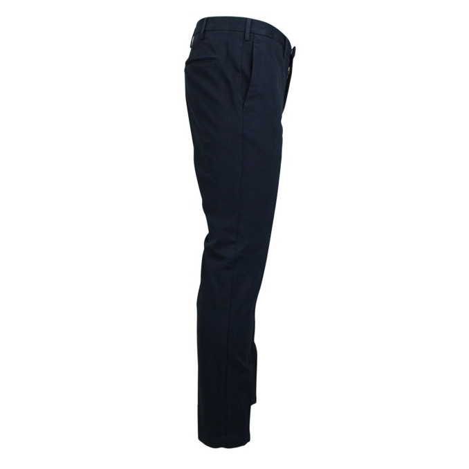 Solid color skinny trousers Navy PT