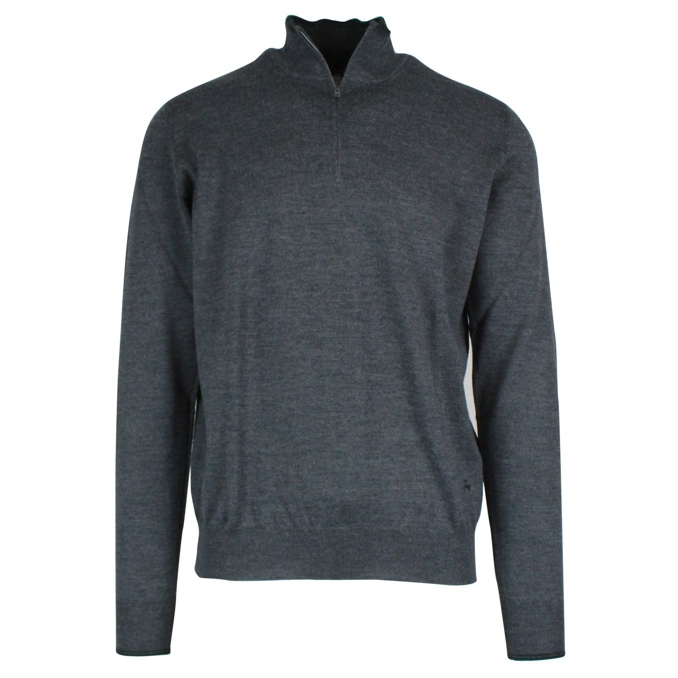 Half zip sweater with patches Dark gray Fay