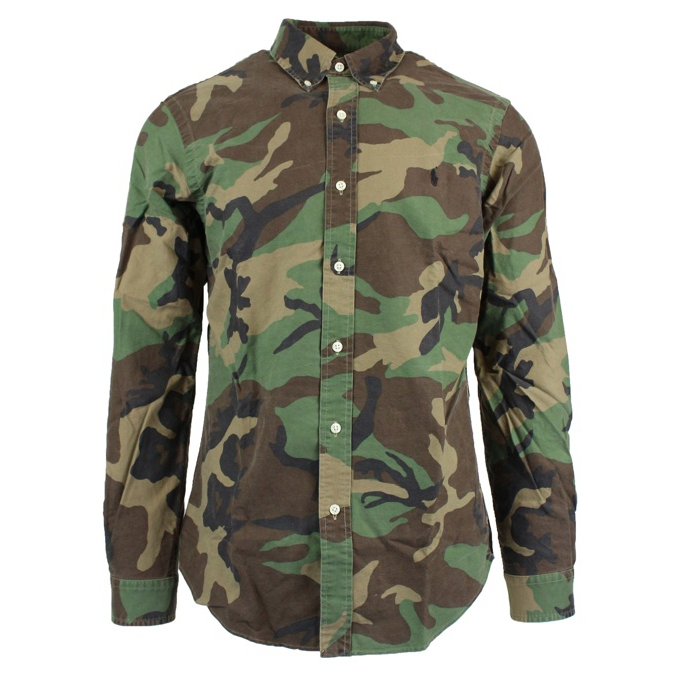 Camicia camouflage botton down slim Camouflage Polo Ralph Lauren