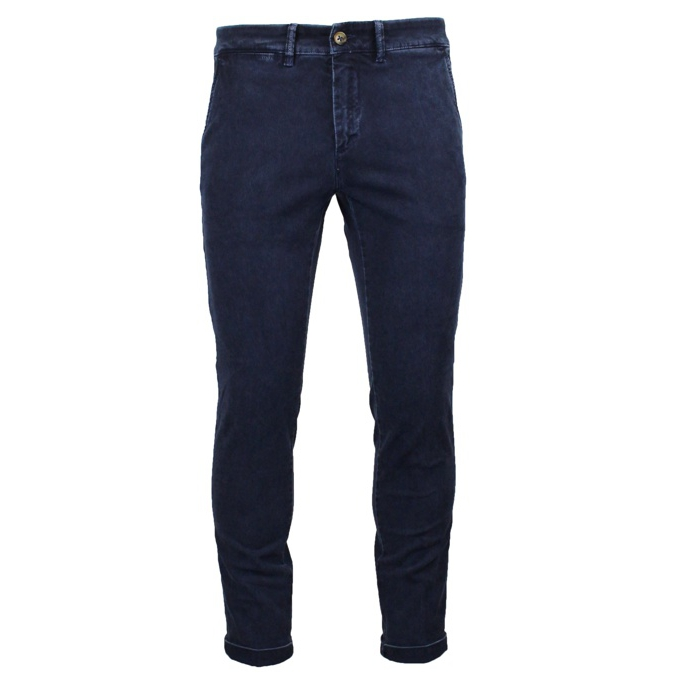 Slim ankle chino trousers Blue Jeckerson