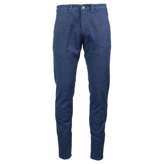 Slim patterned chino trousers Blue Jeckerson