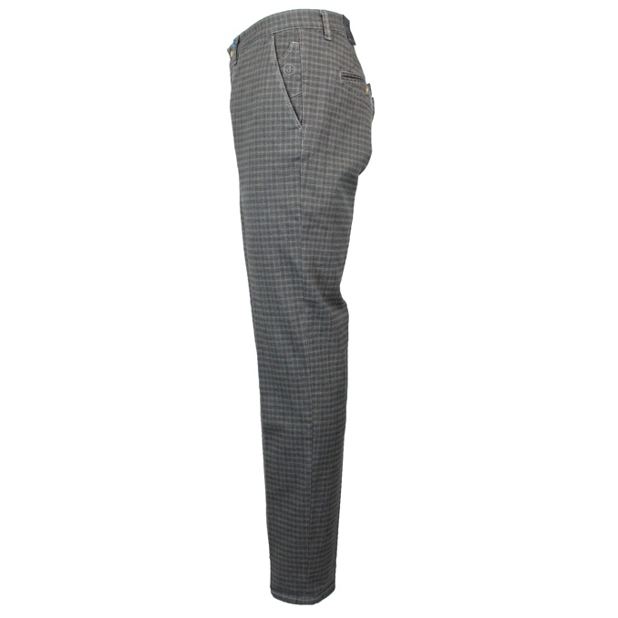 Slim patterned chino trousers Silver Jeckerson