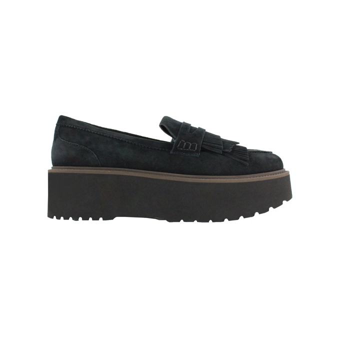 Platform moccasin Black Hogan