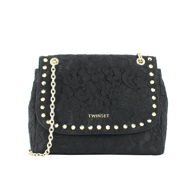 Lace bag with studs Black Twin-Set