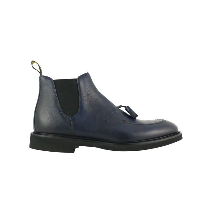 Chelsea boot in pelle Navy Doucal's