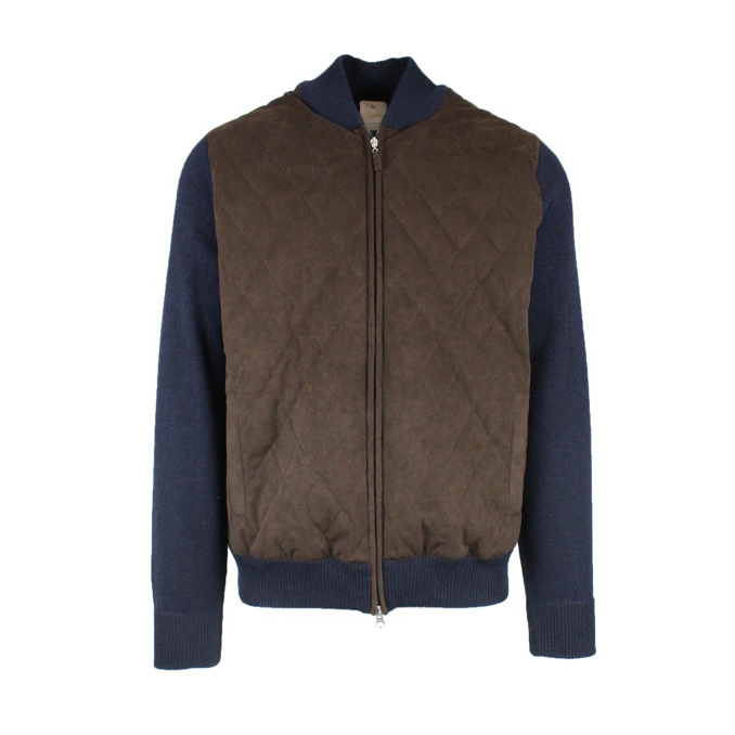 Knitted jacket with zip Moro GRAN SASSO