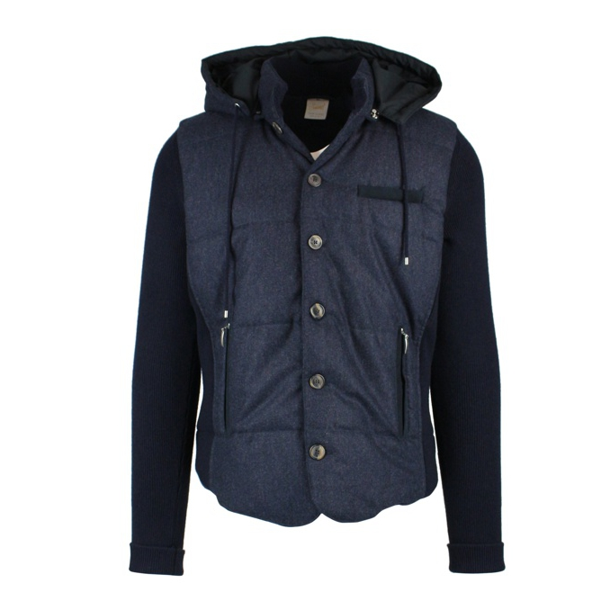 Knitted jacket with buttons Navy GRAN SASSO