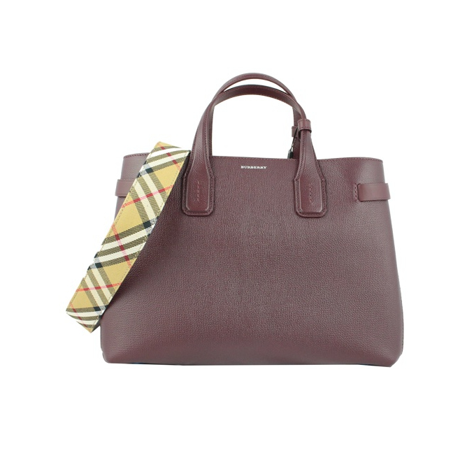 BANNER MEDIA LEATHER Mahogany Burberry