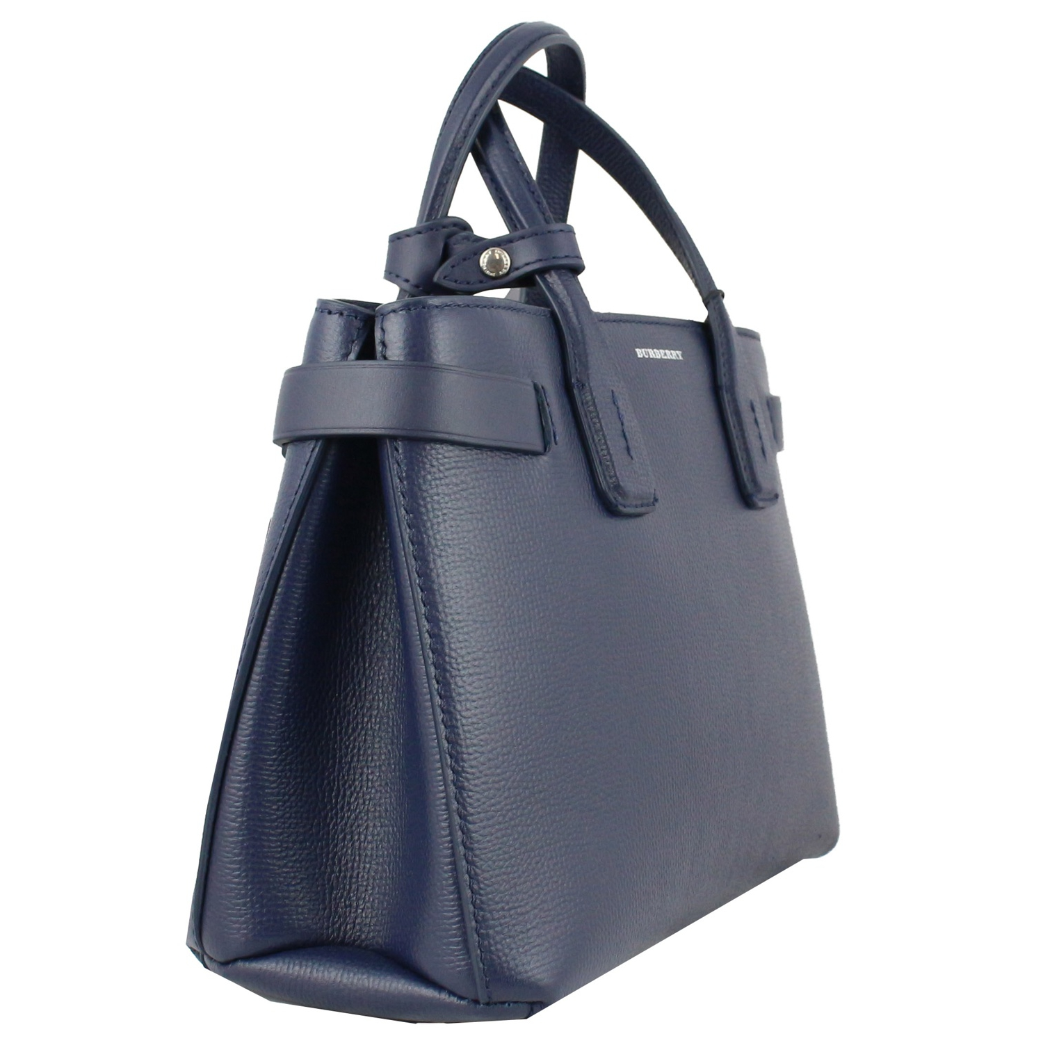 b30eab5968b8 ... SMALL BANNER BAG IN LEATHER Blue Burberry ...