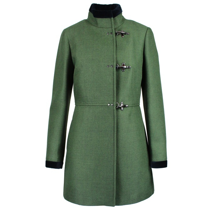 Cappotto Virginia in misto lana Verde Fay