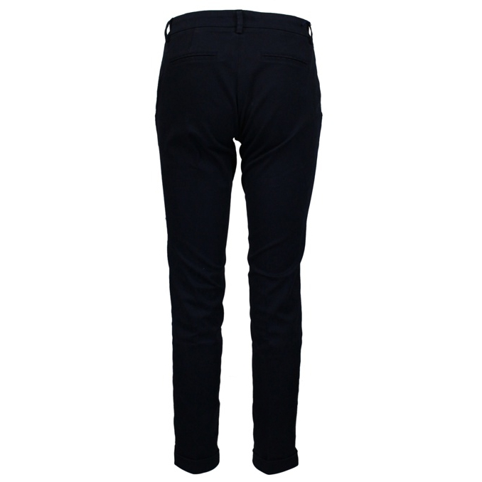 Slim trousers with turn-ups Blue / black Fay