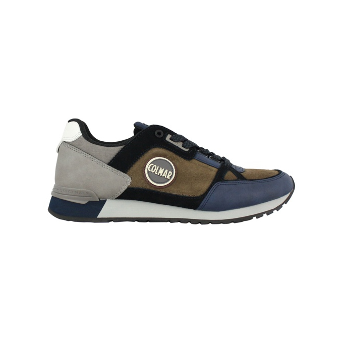 Sneakers Travis A1 supreme pad Brown / navy COLMAR SHOES