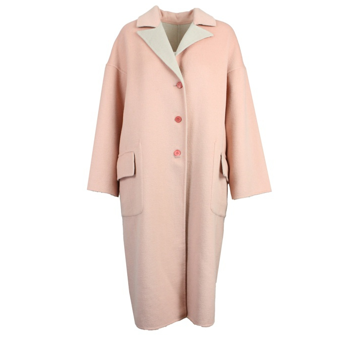 CAPPOTTO REVERSIBILE OVER SOFT Rosa/cipria Maliparmi
