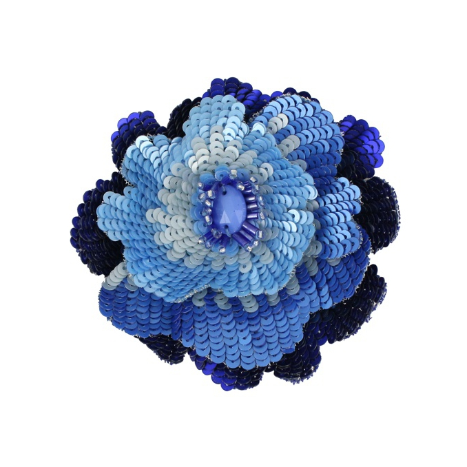 PIN BLOOMING PAILLETTES Light blue Maliparmi