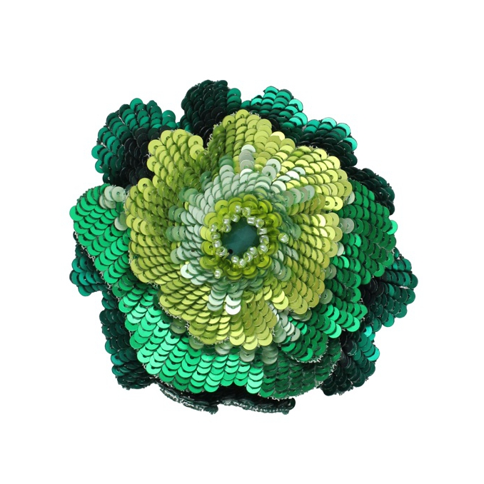 PIN BLOOMING PAILLETTES Green bottle Maliparmi