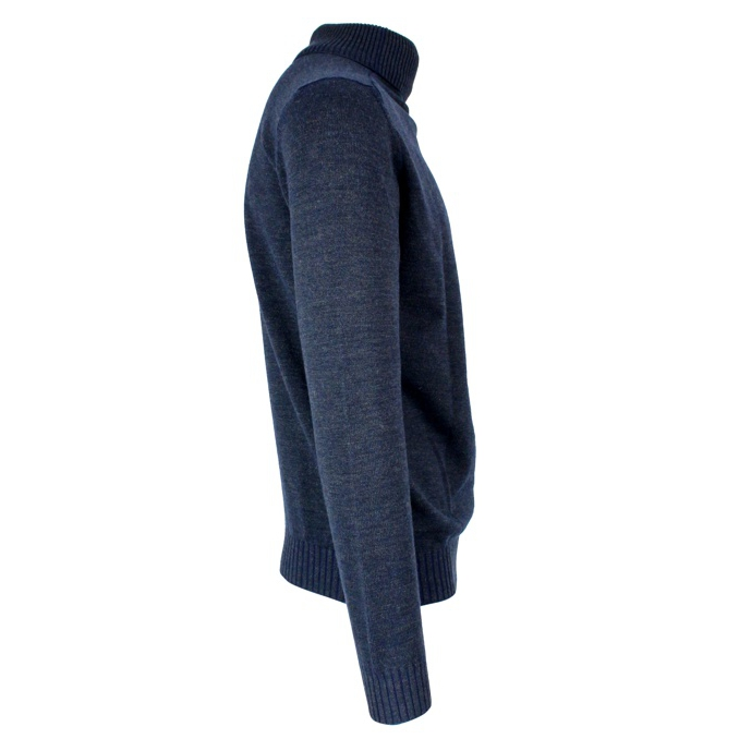 Cyclist double face wool and silk Blue / anthracite JURTA