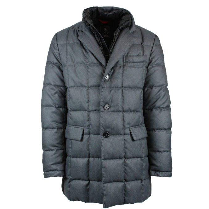 New Down coat double front Grey Fay