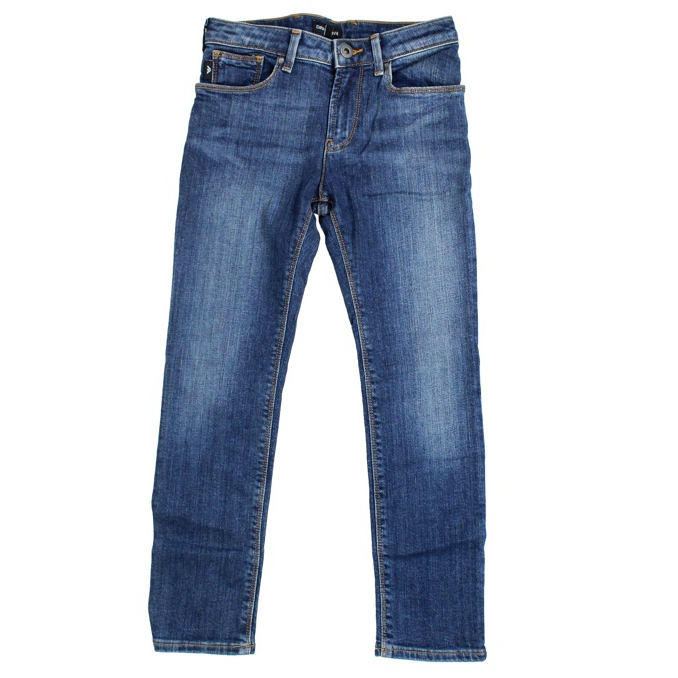 Regular-fit jeans with a used effect Blue denim EMPORIO ARMANI