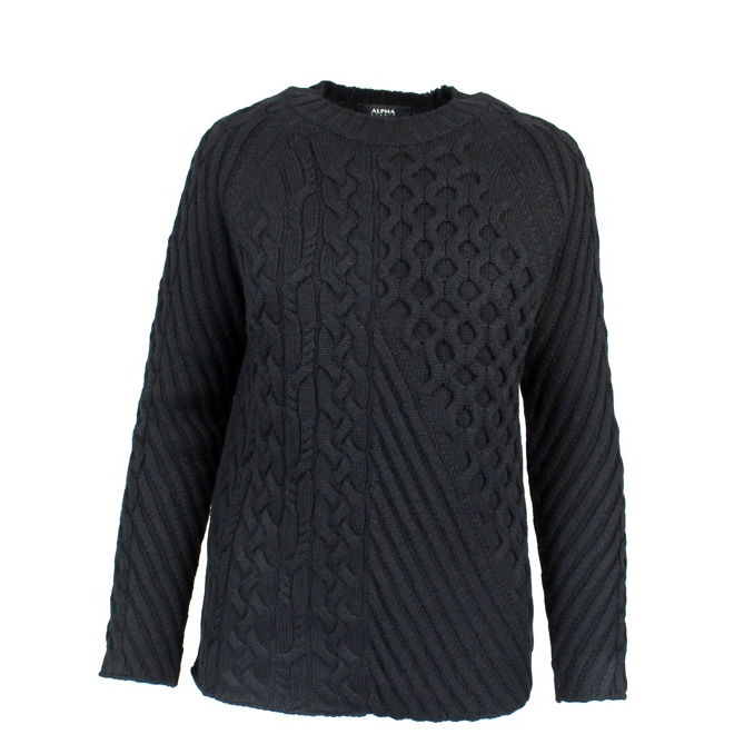 Wool sweater Black ALPHA STUDIO