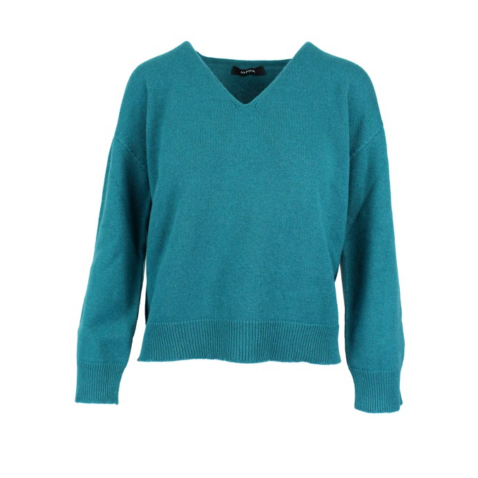 V-neck sweater Green ALPHA STUDIO