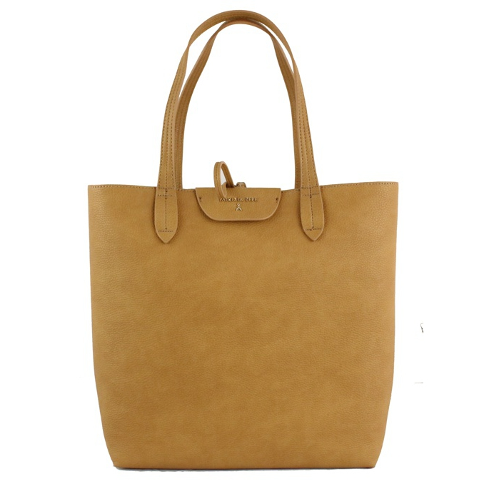 Reversible vertical shopping bag Beige / black Patrizia Pepe
