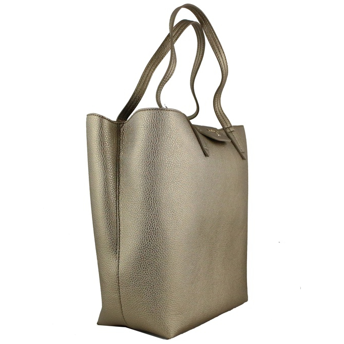 Reversible vertical shopping bag Bronze / gray Patrizia Pepe