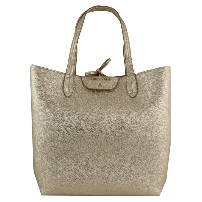 Reversible vertical shopping bag Gold silver Patrizia Pepe
