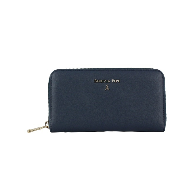 0445eef9cf Leather wallet with lettering Blue, Patrizia Pepe 2v4879 aq41 ...